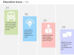 school_bus_bulb_student_communication_ppt_icons_graphics_Slide01