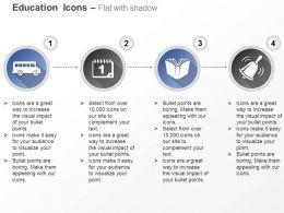 school_bus_calendar_book_bell_ppt_icons_graphics_Slide01