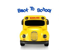School Bus With Back To School Concept Stock Photo