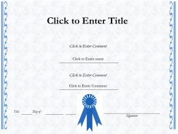 School Graduation diploma Certificate Template of Attainment completion PowerPoint for Kids