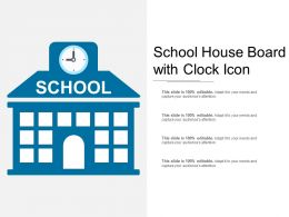 School House Board With Clock Icon