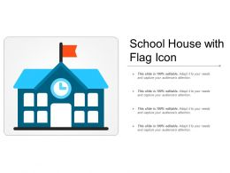 School House With Flag Icon