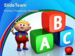 School Powerpoint Templates Abc Cubes Education Business Ppt Themes