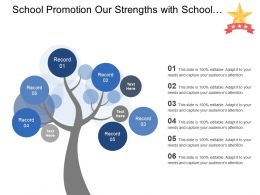 School Promotion Our Strengths With School Icon