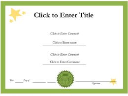 School Success diploma Certificate Template of Completion completion PowerPoint for Kids