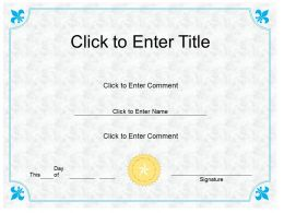 School Success diploma Certificate Template of Fullfilment completion PowerPoint for Kids
