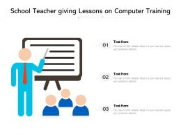 School Teacher Giving Lessons On Computer Training