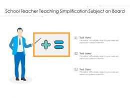 School Teacher Teaching Simplification Subject On Board