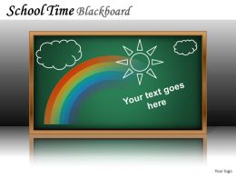 School Time Blackboard Powerpoint Presentation Slides DB