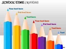 school_time_crayons_powerpoint_presentation_slides_Slide01