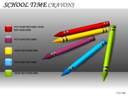 School Time Crayons Powerpoint Presentation Slides DB