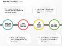 School University Bank Business Hub Ppt Icons Graphics