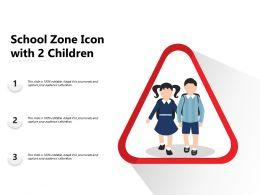 School Zone Icon With 2 Children