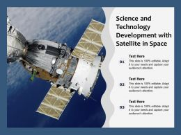 Science And Technology Development With Satellite In Space