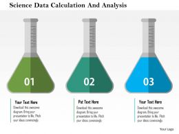 Science Data Calculation And Analysis Flat Powerpoint Design