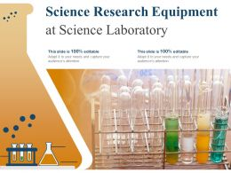 Science Research Equipment At Science Laboratory