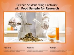 Science Student Filling Container With Food Sample For Research