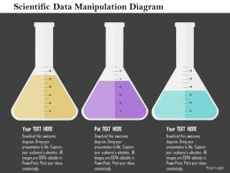 Scientific Data Manipulation Diagram Flat Powerpoint Design