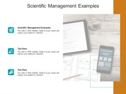Scientific Management Examples Ppt Powerpoint Presentation Slides Structure Cpb