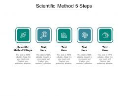 Scientific Method 5 Steps Ppt Powerpoint Presentation Ideas Smartart Cpb