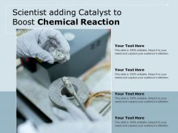 Scientist Adding Catalyst To Boost Chemical Reaction