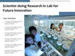 Scientist Doing Research In Lab For Future Innovation