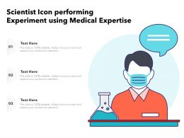 Scientist Icon Performing Experiment Using Medical Expertise