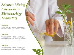 Scientist Mixing Chemicals In Biotechnology Laboratory