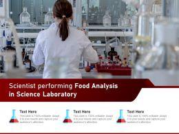 Scientist Performing Food Analysis In Science Laboratory