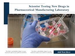 Scientist Testing New Drugs In Pharmaceutical Manufacturing Laboratory