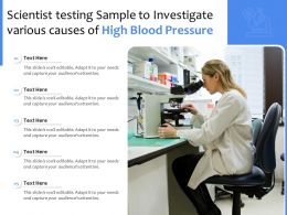 Scientist Testing Sample To Investigate Various Causes Of High Blood Pressure