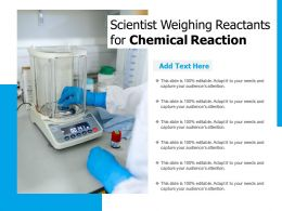 Scientist Weighing Reactants For Chemical Reaction