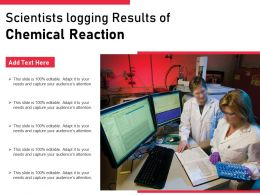 Scientists Logging Results Of Chemical Reaction