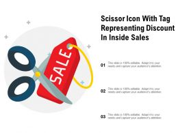 Scissor Icon With Tag Representing Discount In Inside Sales