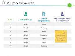 Scm Process Execute Powerpoint Templates Download