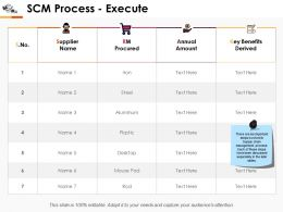 Scm Process Execute Ppt Professional Guidelines