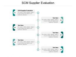 SCM Supplier Evaluation Ppt Powerpoint Presentation Infographics Gridlines Cpb