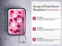 Scoop Of Pink Sweet Raspberry Icecream