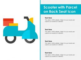 Scooter With Parcel On Back Seat Icon