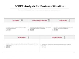 Scope Analysis For Business Situation