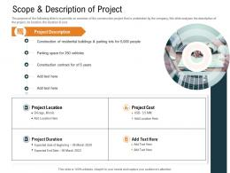 Scope And Description Of Project Ppt Powerpoint Presentation Pictures Graphics
