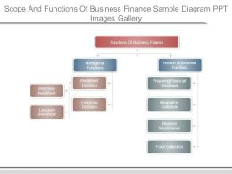 Scope And Functions Of Business Finance Sample Diagram Ppt Images Gallery