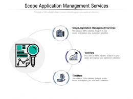 Scope Application Management Services Ppt Powerpoint Presentation Portfolio Layout Cpb