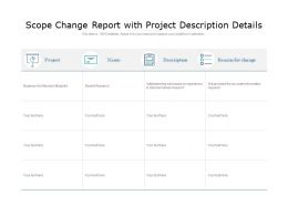 Scope Change Report With Project Description Details
