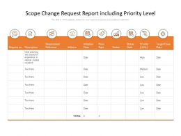 Scope Change Request Report Including Priority Level