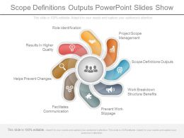 Scope Definitions Outputs Powerpoint Slides Show