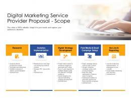 Scope Digital Marketing Service Provider Proposal Ppt Powerpoint Presentation Infographic