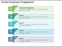Scope Employee Engagement Ppt Powerpoint Presentation Gallery Sample Cpb