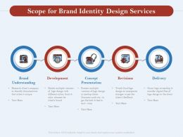Scope For Brand Identity Design Services Ppt Powerpoint Presentation File Example