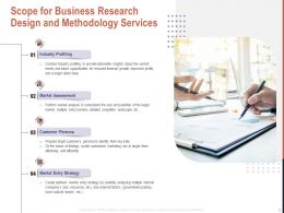 Scope For Business Research Design And Methodology Services Ppt Powerpoint Aids